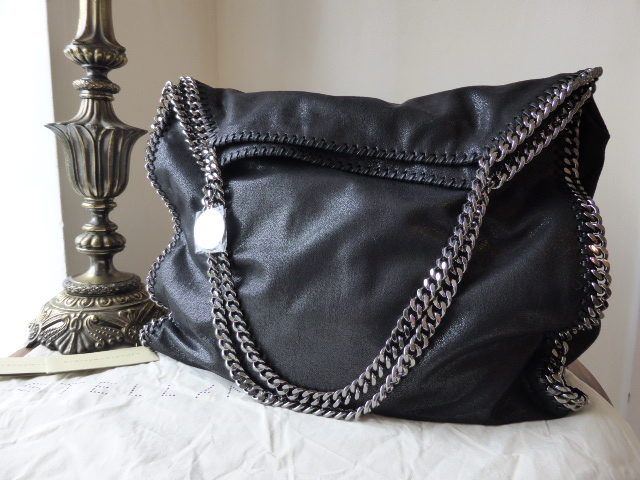 Stella McCartney Falabella Shaggy Deer Big Tote in Black - SOLD 9f5fce0f64a61