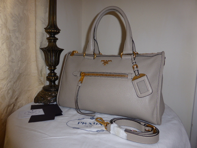Prada Bauletto Vitello Daino Pomice BL0805 - New*