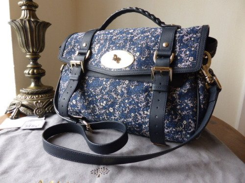 Mulberry Regular Alexa in Slate Blue Soft Buffalo Leather - New