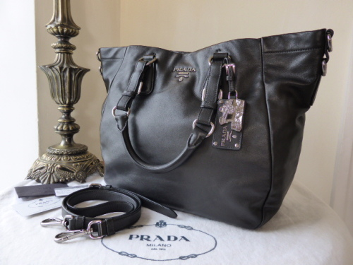 Prada Cervo Tote in Nocciolo Deerskin Leather