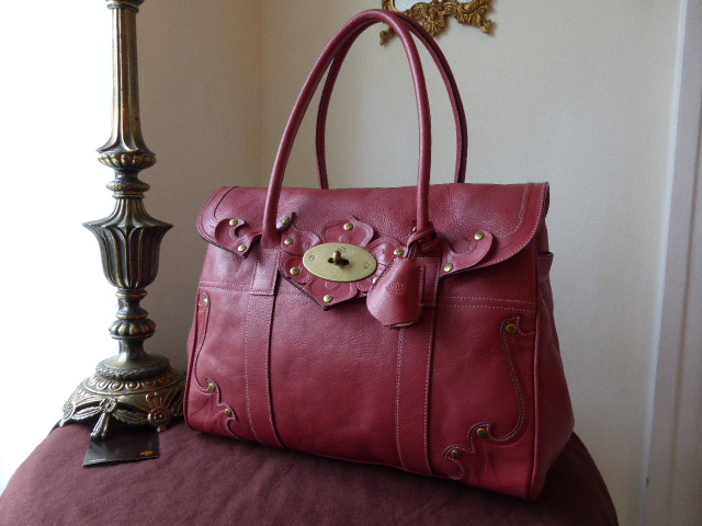 Mulberry Bayswater in Chocolate Tooled Darwin Leather