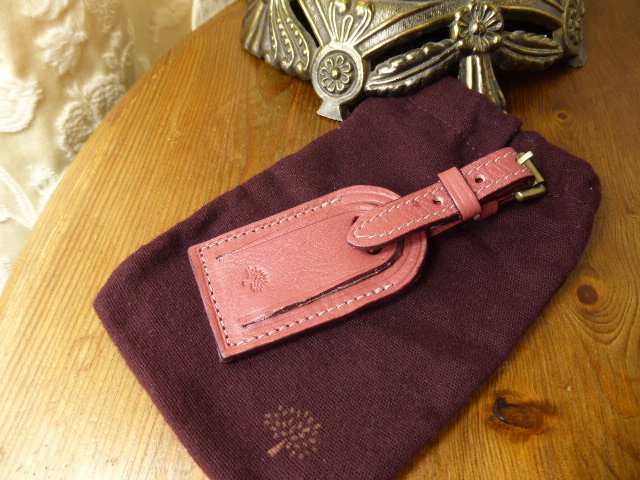 Mulberry Star Keyring Bag Charm in Petrol Deeply Grained Leather
