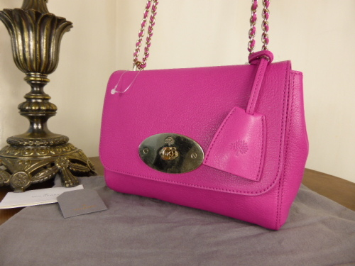 Mulberry Lily in Mulberry Pink Glossy Goat Leather
