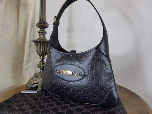 Gucci Punchline Hobo in Black Guccissima Leather - SOLD