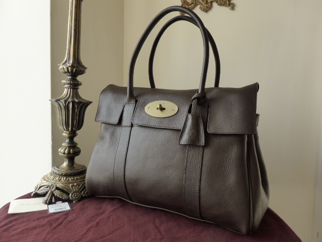 Mulberry Bayswater in Chocolate Natural Leather - New*