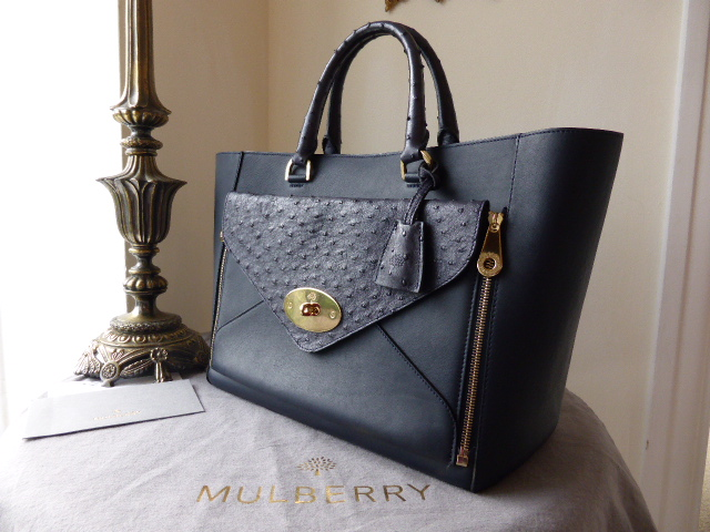 Mulberry Willow Tote in Pheasant Green Shrunken Calf - SOLD