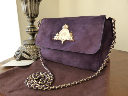 Mulberry Margaret (Small) in Grape Suede - SOLD