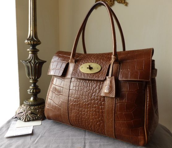 Mulberry Bayswater in Oak Vegetable Tanned Printed Leather (ref 3)