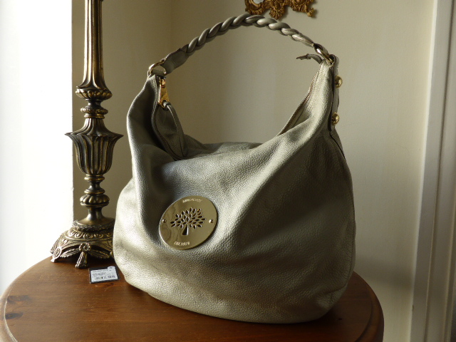 Mulberry Large Daria Hobo in Drizzle Soft Spongy Leather