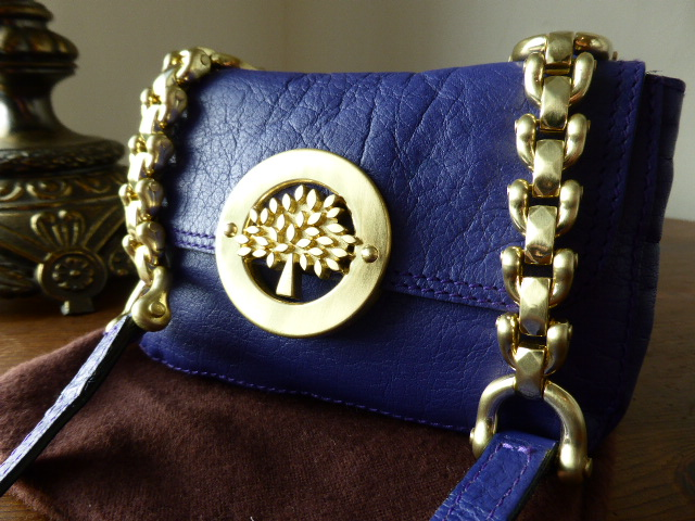 Mulberry Drew Mini Messenger in Blueberry Soft Buffalo Leather - SOLD