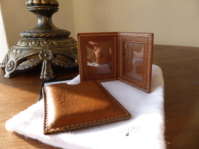 Mulberry Travel Photo Frame Mini in Oak Darwin Leather - New