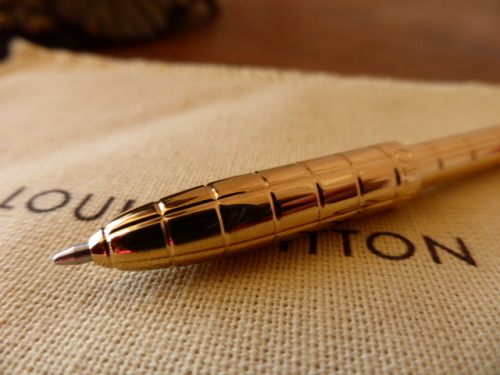 Louis Vuitton Retractable Mini Pen in Golden Brass - New