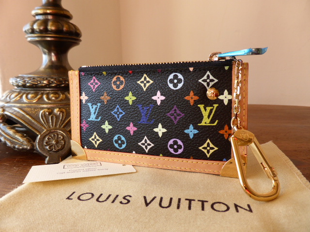 Louis Vuitton Porte-Clefs Pouch in Epi Noir - As New