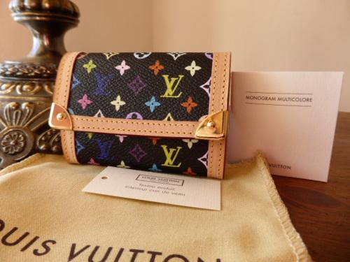Louis Vuitton Coin Purse in Black Multicolore - New