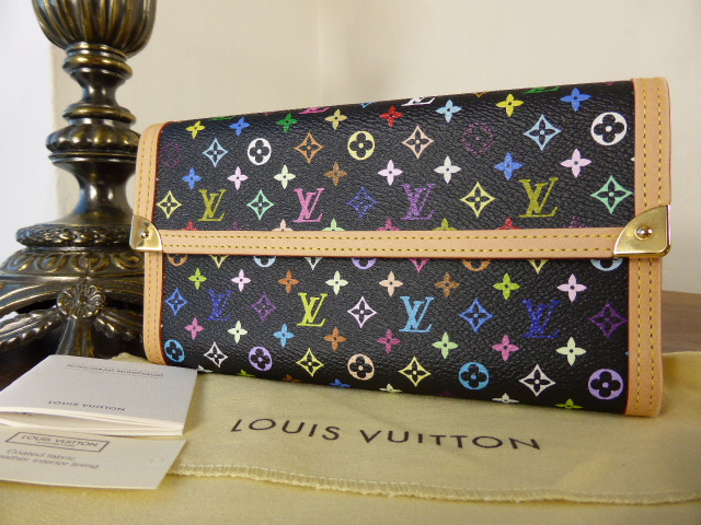 Louis Vuitton International Wallet in Black Multicolore - New