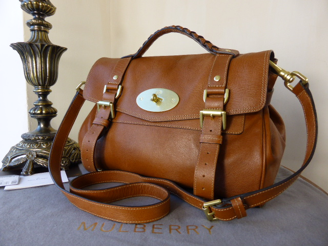 Mulberry Regular Alexa in Oak Soft Calf Fur Print