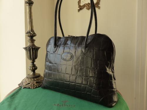 Mulberry Large Breton Shoulder Bag in Black Congo Leather