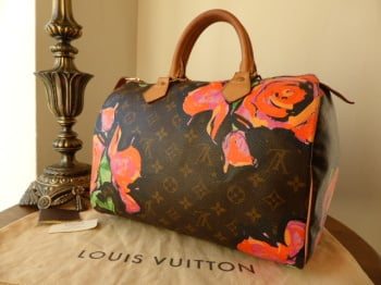 2d7132830764 Louis Vuitton Limited Edition Speedy 30 Monogram Roses Graffiti - SOLD