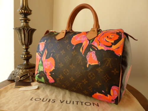 Louis Vuitton Limited Edition Speedy 30 Monogram Roses Graffiti