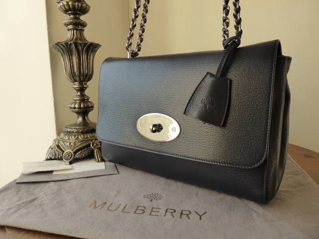 Mulberry Lily Medium Midnight Blue Shiny Goat
