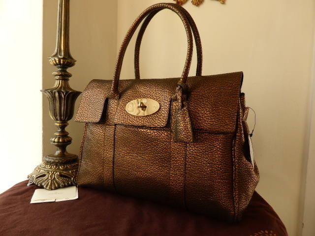 Mulberry Bayswater Hedgehog Bronze NEW