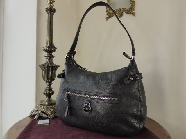 Mulberry Somerset Hobo Black Pebbled Special