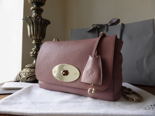Mulberry Lily in Dark Blush Glossy Goat Leather -SOLD