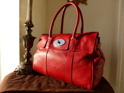 Mulberry Bayswater in Fudge Glossy Buffalo Leather