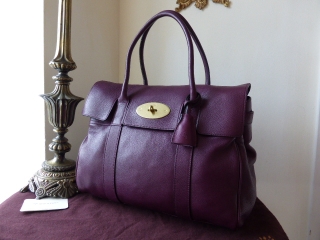 Mulberry Bayswater in Rouge Noir Pebbled Leather