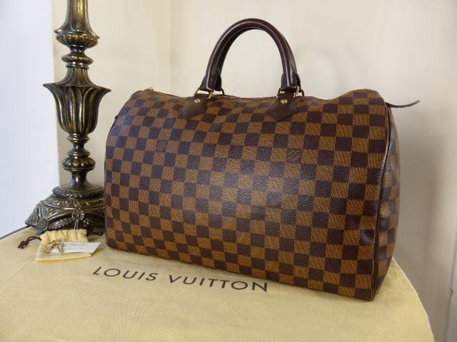 Louis Vuitton Speedy 35 in Damier Ebene & Base Shaper