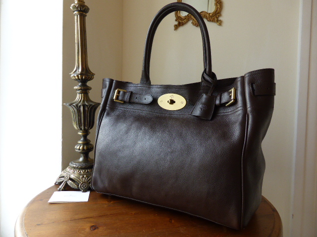 Mulberry Bayswater Tote in Chocolate Natural Leather