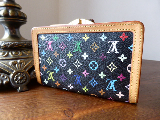 Louis Vuitton French Purse in Black Multicolore