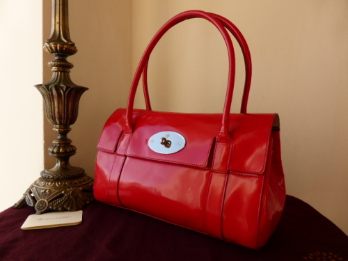 Mulberry East West Bayswater in Crimson Spazzalato Leather