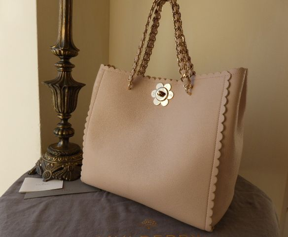 Mulberry Cecily Flower Tote in Light Berry Cream