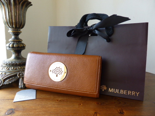 Mulberry Daria Continental Wallet in Oak Soft Spongy Leather - SOLD 2e7dbf477541c