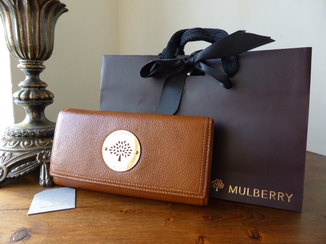 Mulberry Multi Zip Pouch in Black Natural Leather