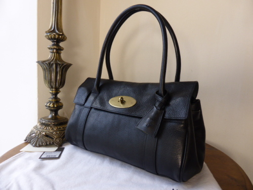 Mulberry East West Bayswater in Black Natural Leather