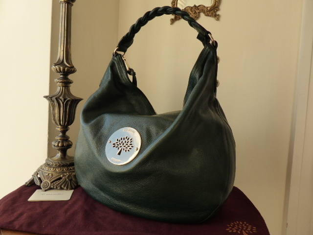 Mulberry Daria Hobo Large Pheasant Green As New