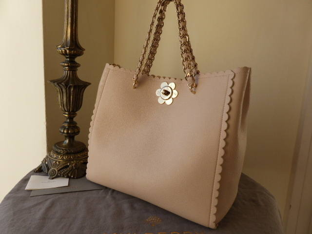 Mulberry Cecily Flower Tote Light Berry Cream