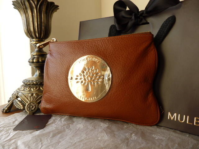 Mulberry Daria Zip Pouch Oak Soft Spongy NEW
