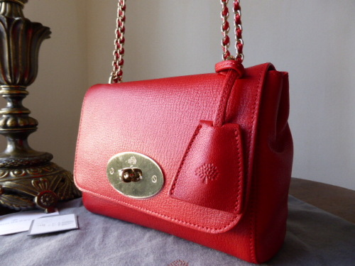 Mulberry Lily in Red Glossy Goat Leather