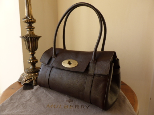 Mulberry East West Bayswater in Chocolate Natural Leather