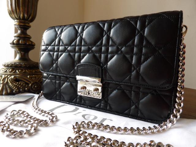 c7a6754f8a Dior Miss Dior Promenade large pouch in black lambskin - SOLD