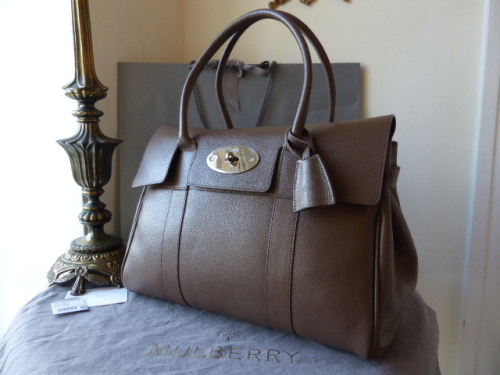 Mulberry Bayswater in Taupe Shiny Goat - New*