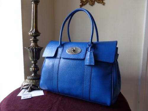 Mulberry Bayswater in Bluebell Shiny Goat - New