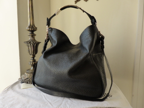 Mulberry Evelina Large Hobo in Black Soft Large Grain Leather