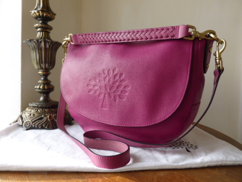 Mulberry Effie Satchel in Mulberry Pink Spongy Pebbled Leather