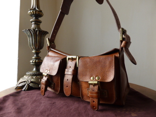 Mulberry Blenheim (Vintage) in Oak Darwin Leather