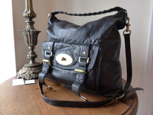 Mulberry Alexa Hobo in Black Soft Buffalo Leather