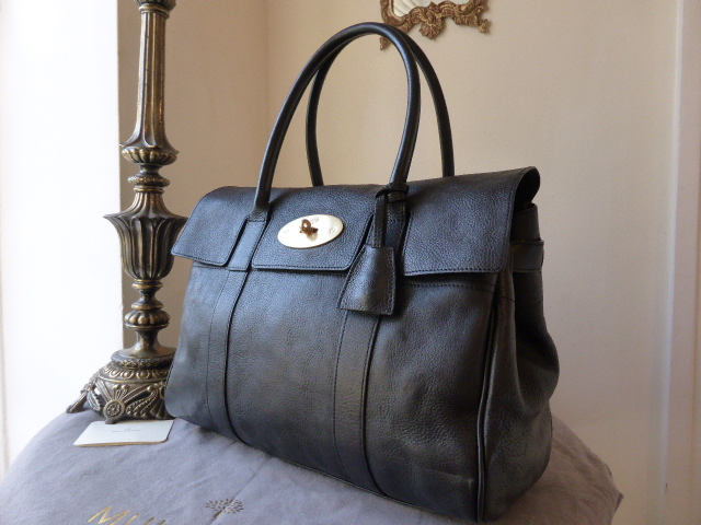 Mulberry Bayswater in Black Natural Leather (Sub)
